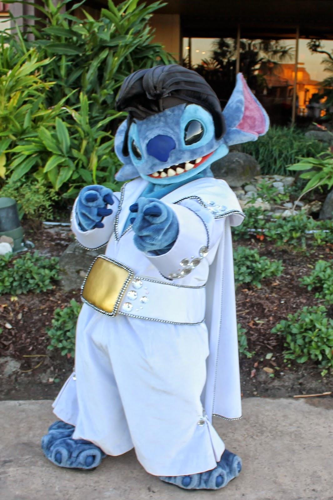 Elvis Stitch Halloween Disney character hunt Polynesian Resort
