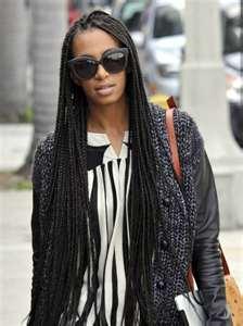 Wedding Bride: African Long Braids Hairstyles by Ciara