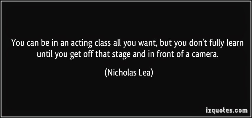 Nicholas Lea on camera acting