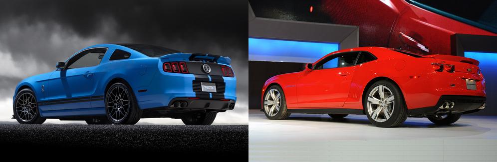 2013 Ford Mustang Shelby Gt500 Vs Chevrolet Camaro Zl1