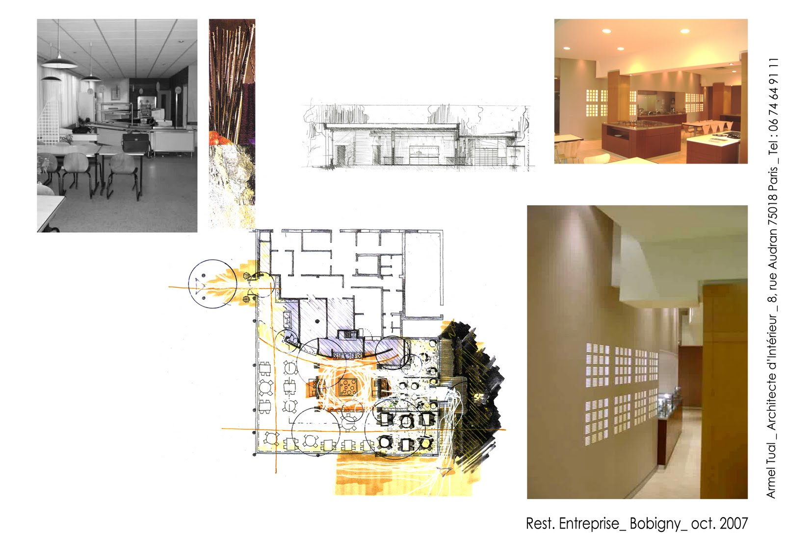 armel tual architecte d 39 int rieur cfai restaurant d 39 entreprise de 480m2. Black Bedroom Furniture Sets. Home Design Ideas