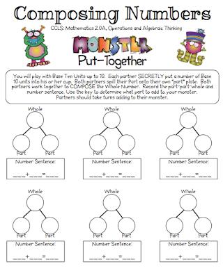 Composing Numbers Kindergarten Worksheets - Invitation Templates ...