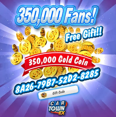 Car+Town+EX+Free+Gift+350,000+CarTown+Coins