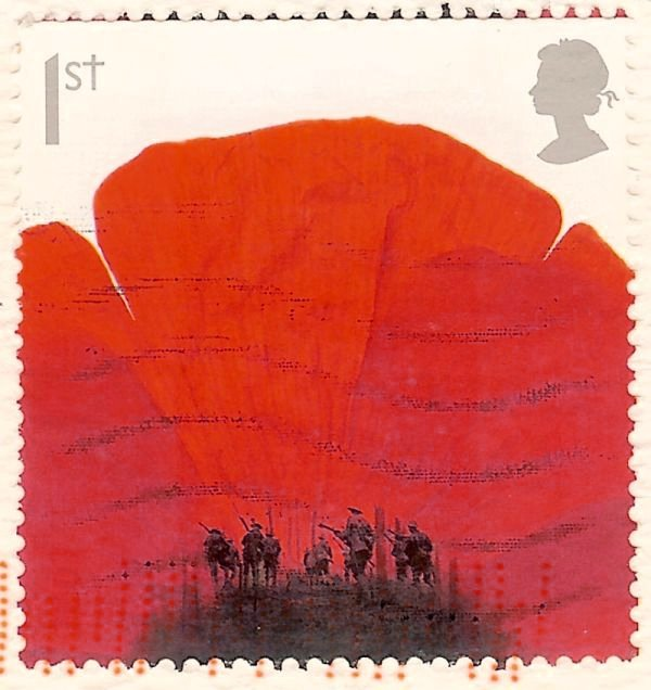 poppy first class stamp