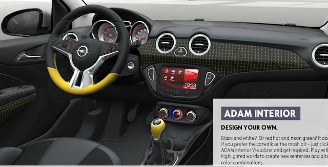 interior Opel Adam Cabriolet, Opel Adam Cabriolet por dentro,painel Opel Adam Cabriolet,