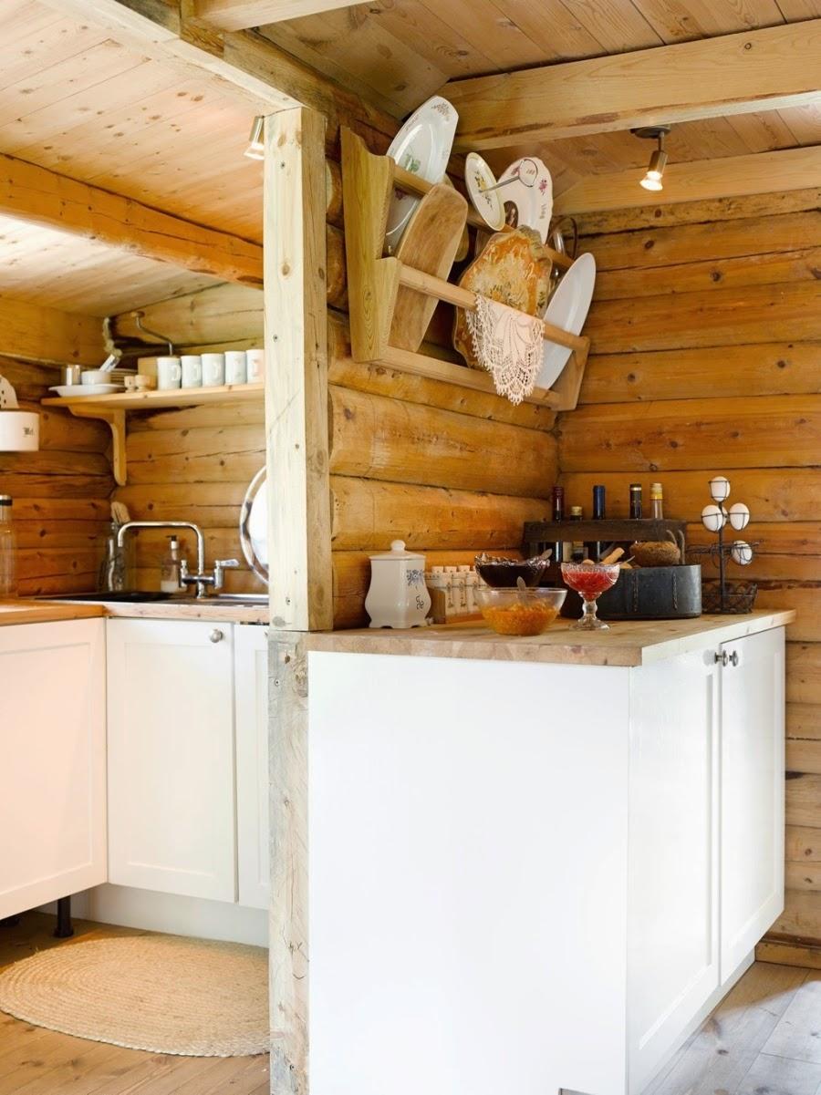 wystrój wnętrz, home decor, wnętrza, dodatki, dom, mieszkanie, dom z bali, dom drewniany, trawa na dachu, kuchnia