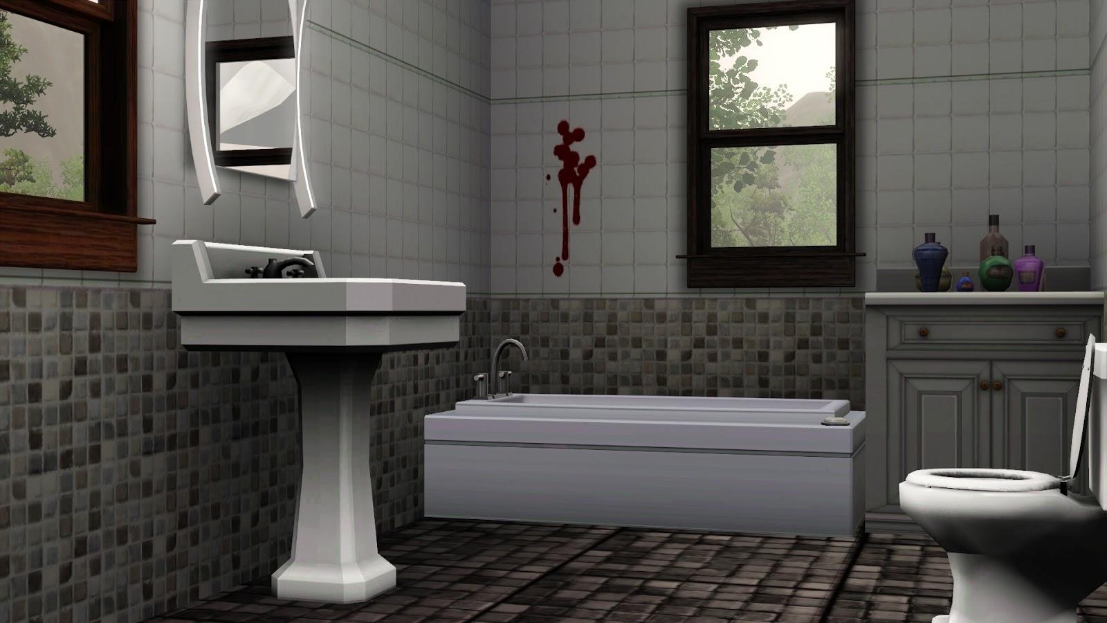 Brook studio bathroom tile splatter for Bathroom ideas sims 3