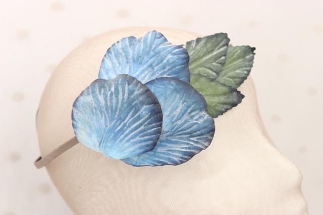 Colección Bailando Swing - Tiara flor azul