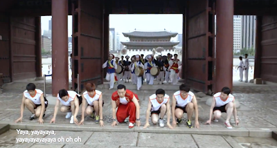 Psy Korea sprint runners