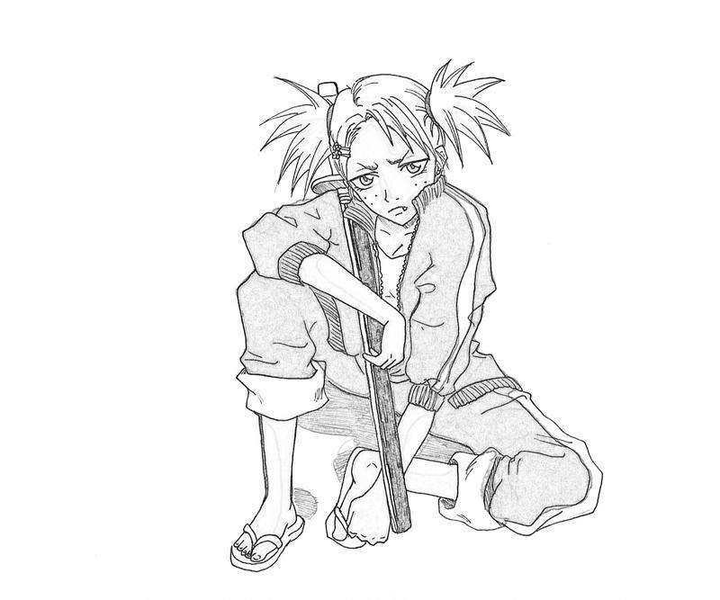 hiyori-sarugaki-weapon-coloring-pages