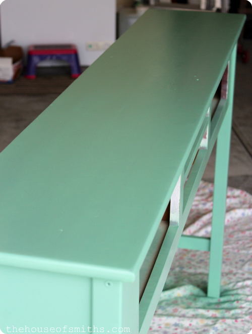 Table redo for 12 holla my best tips on how to spray How to spray paint wood furniture