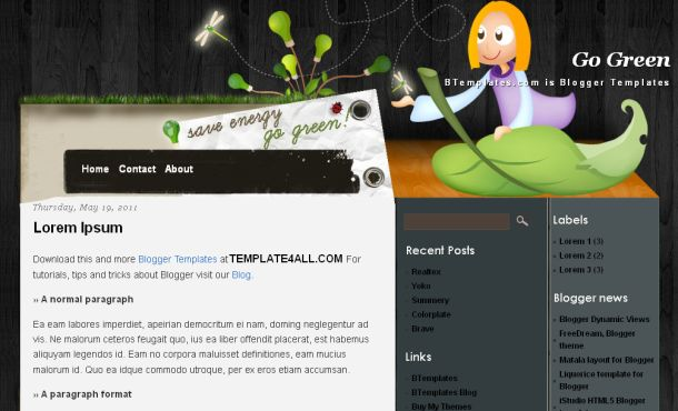 Nature Brown Wood Blogger Template