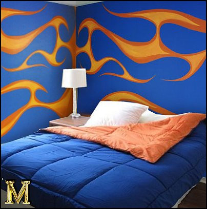 Decorating theme bedrooms - Maries Manor: flames theme decorations