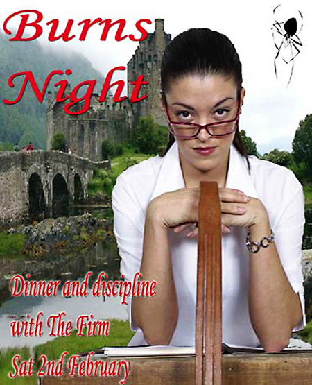2013 Burns Night flyer with draped tawse