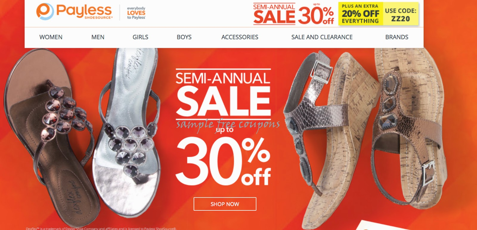 Payless online shopping