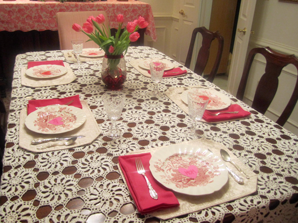 Valentineu0027s Table Setting & Very Fond Of: Valentineu0027s Table Setting