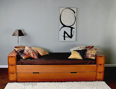 Cabeceros y camas de madera for Cama nido color madera