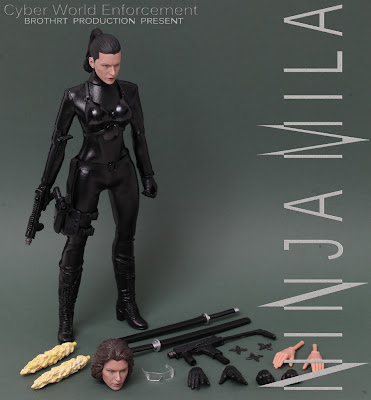 ... 12-inch female action figure and all her accessories / gear / weapons