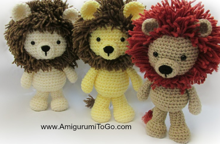 Free Knitting Pattern Toy Lion : Little Bigfoot Lion 2014 ~ Amigurumi To Go