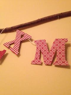 karácsony, textil, betűk