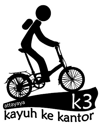 Kayuh Ke Kantor K3 B2w btow bike to work logo