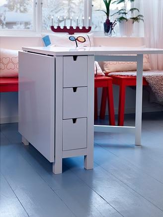 Mesa com abas rebat veis decora o e ideias - Mesa aparador ikea ...