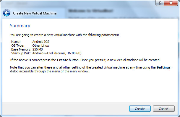 VirtualBox - Android VM Summary