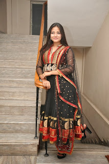 Actress Pallavi Ghosh Pictures in Salwar Kameez at Mudduga Movie Audio Launch Function  0087.jpg