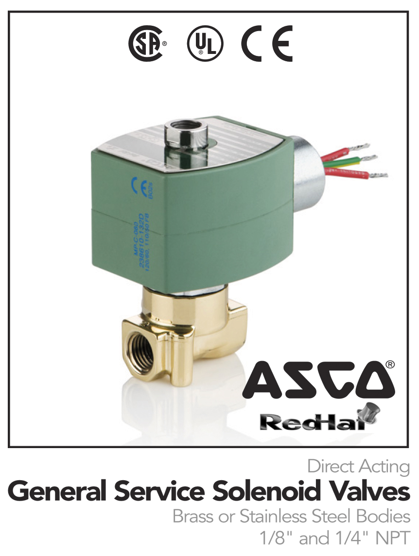 ASCO 8314 Series - General Service For High Speed and No Minimun Pressure  Valve