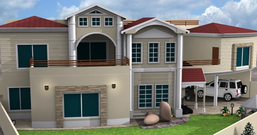 3d front new house designs modern 2013 for 3 storey building front elevation