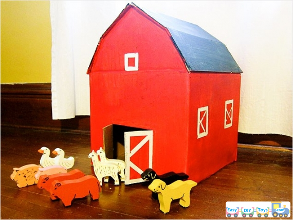 guides for homemade paper toy houses
