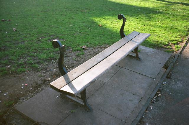 London bench Shepherds Bush Hammersmith and Fulham