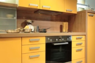 yellow kitchen cabinets design