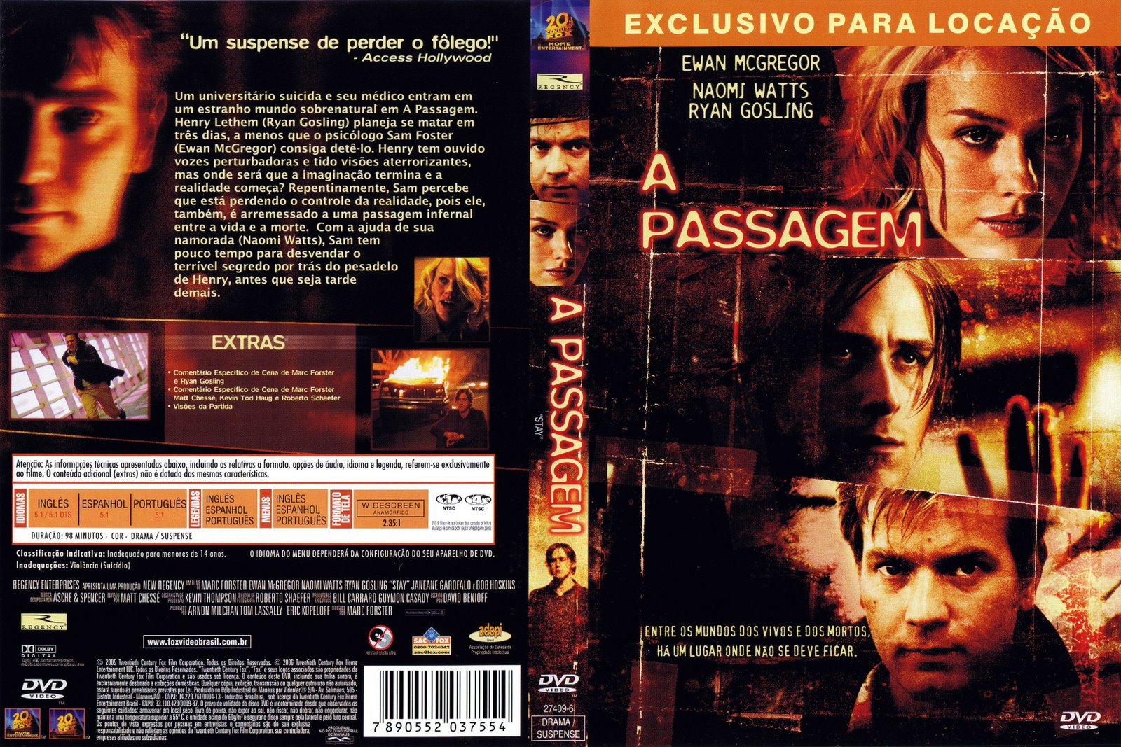 A Passagem DVD Capa