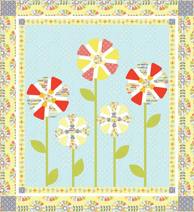 http://www.michaelmillerfabrics.com/inspiration/freequiltpatterns/petal-pinwheels-quilt.html
