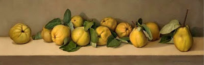 Bodegones de Membrillos Amarillos al Oleo