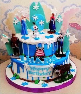 Cake Ulang Tahun Anak Tema Frozen