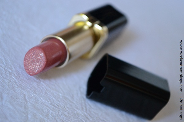 loreal color riche star secrets kerrys rosewood 225 lipsticks nude pale peach pink reviews swatches fotd