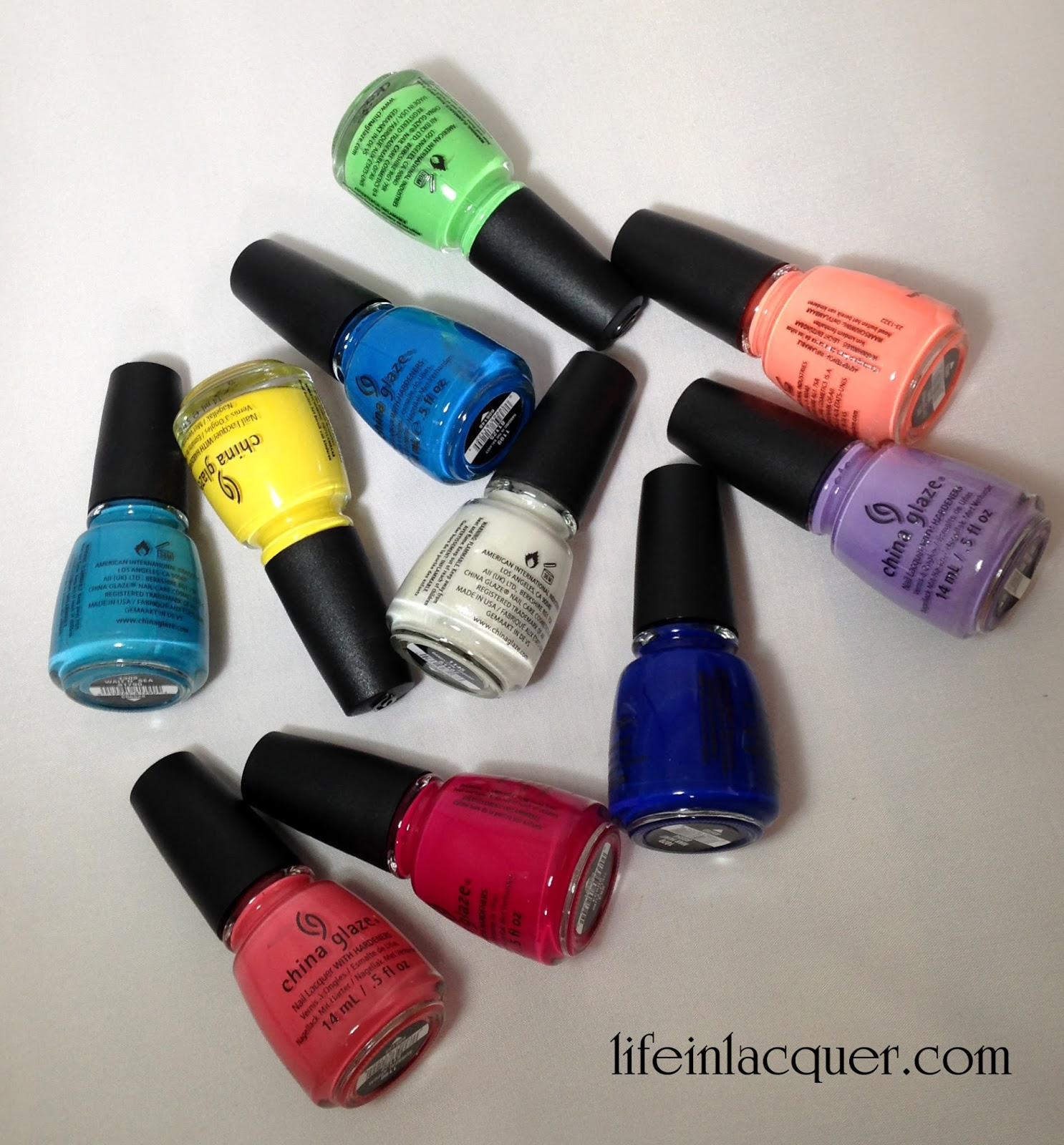 Nail Polish Direct China Glaze Haul discount neon