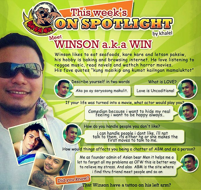 spotlight of the week winson syempre ako una sa listahan ng spotlight