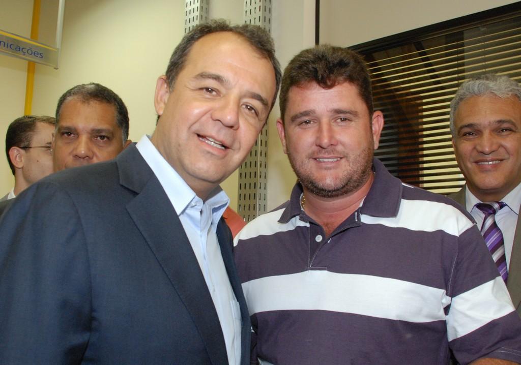 Governador Sérgio Cabral com o Prefeito Arlei: parceria pelo melhor atender a população