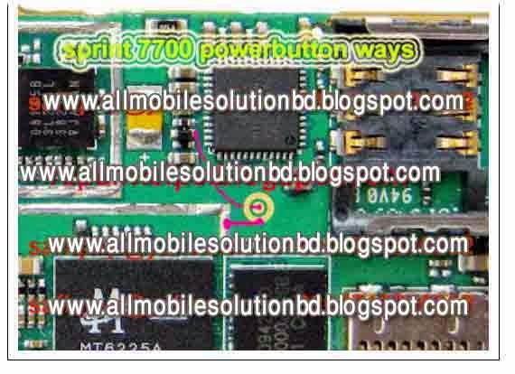 sprint 7700 power button jumper solution