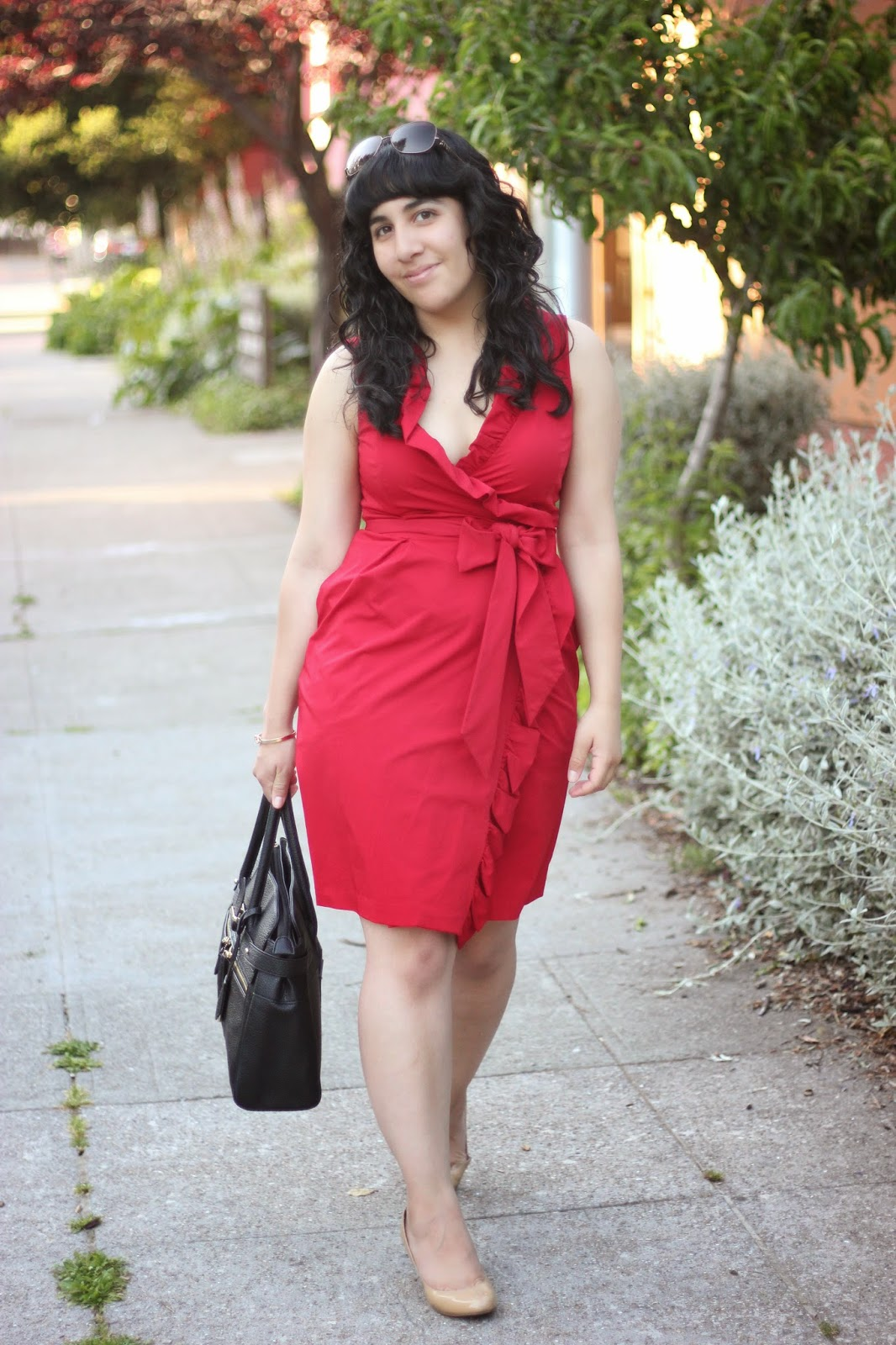 Red DVF Dress