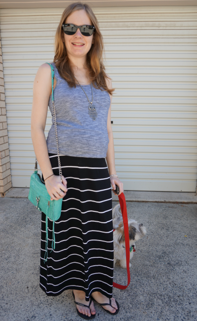 Black white and gray maxi skirt – Modern skirts blog for you