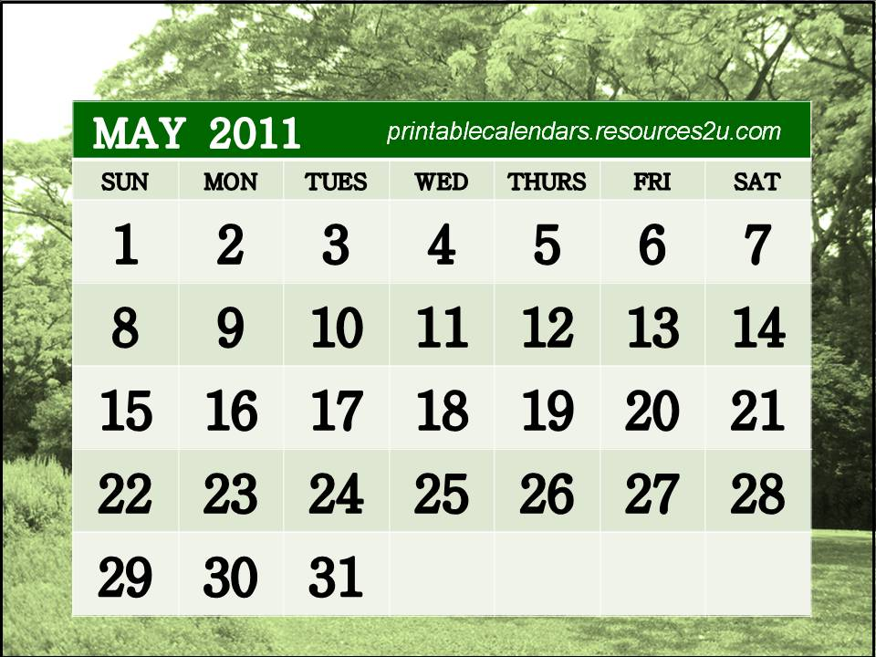 printable calendar 2011 may. printable calendar 2011 may. 2011 calendar printable by