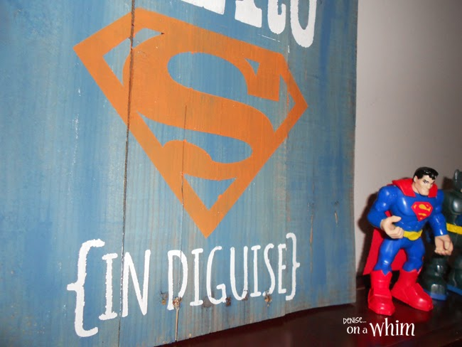 Super Hero In Disguise Pallet Sign from Denise on a Whim