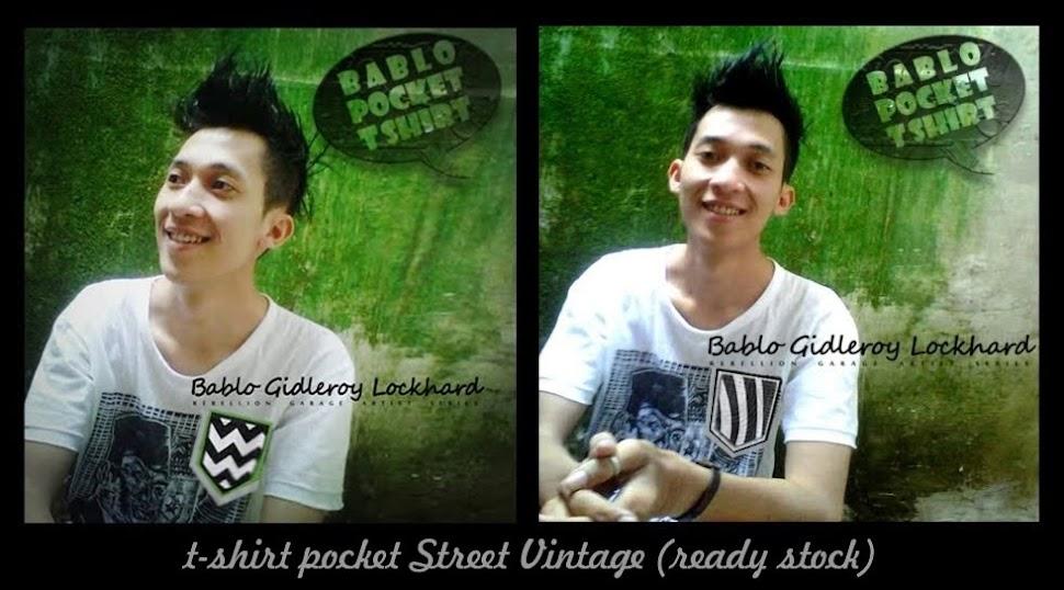 ready stock - tee pocket street vintage