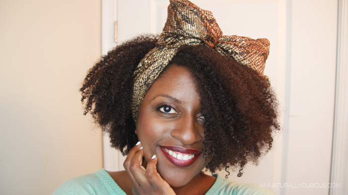 80s Hair! Scarf Bow (Whitney Houston Inspired) | Naturally Curious