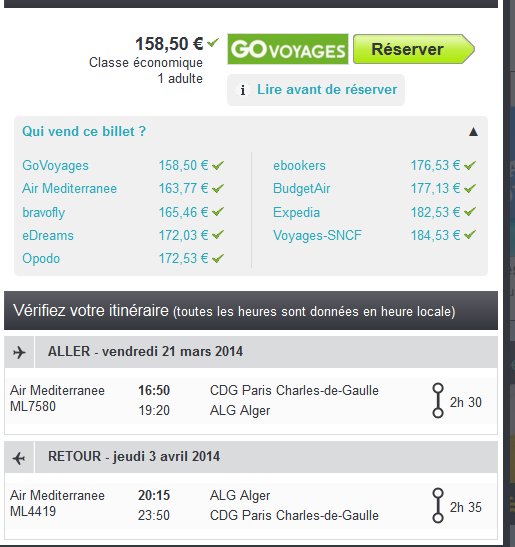 Vol low cost Alger