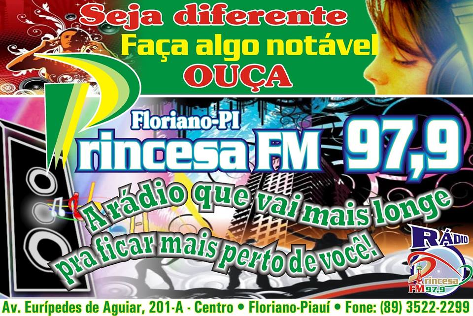 Radio Princesa FM 97.9 de Floriano Piauí, Telefones: (89) 3522-2299-FIXO. (89) 99459-2010-WHATSAPP.